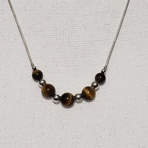 Jewelry - 925 Sterling Silver & Tiger's Eye Necklace